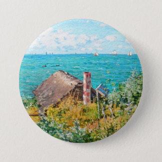 Claude Monet The Cabin At Saint-Adresse Fine Art 7.5 Cm Round Badge