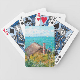 Claude Monet The Cabin At Saint-Adresse Fine Art Bicycle Playing Cards