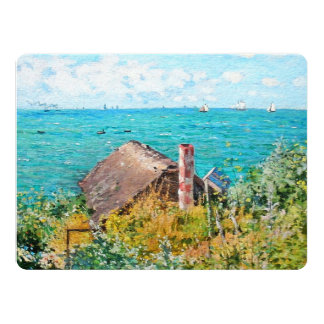 Claude Monet The Cabin At Saint-Adresse Fine Art Card