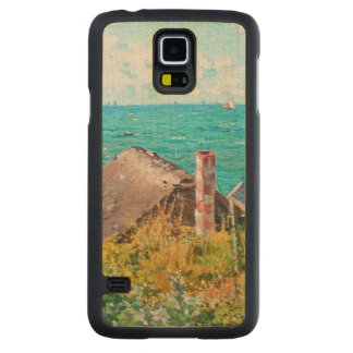 Claude Monet The Cabin At Saint-Adresse Fine Art Carved Maple Galaxy S5 Case