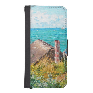 Claude Monet The Cabin At Saint-Adresse Fine Art iPhone SE/5/5s Wallet Case