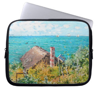 Claude Monet The Cabin At Saint-Adresse Fine Art Laptop Sleeve