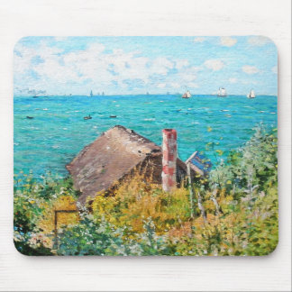 Claude Monet The Cabin At Saint-Adresse Fine Art Mouse Pad