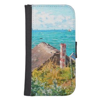 Claude Monet The Cabin At Saint-Adresse Fine Art Samsung S4 Wallet Case