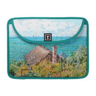 Claude Monet The Cabin At Saint-Adresse Fine Art Sleeve For MacBook Pro