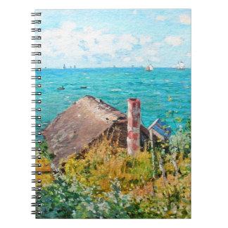 Claude Monet The Cabin At Saint-Adresse Fine Art Spiral Note Books