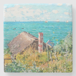 Claude Monet The Cabin At Saint-Adresse Fine Art Stone Coaster