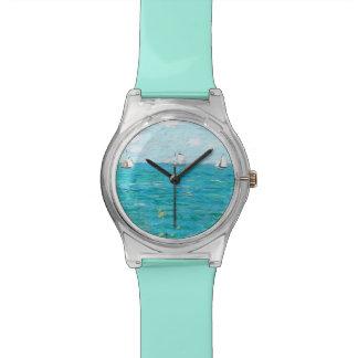 Claude Monet The Cabin At Saint-Adresse Fine Art Wrist Watches