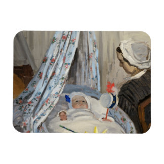 Claude Monet | The Cradle, Camille with Son Jean Rectangular Photo Magnet