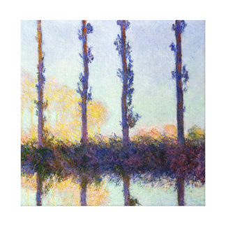Claude Monet The Four Trees Canvas Print