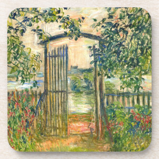 Claude Monet: The Garden Gate at Vetheuil Coaster
