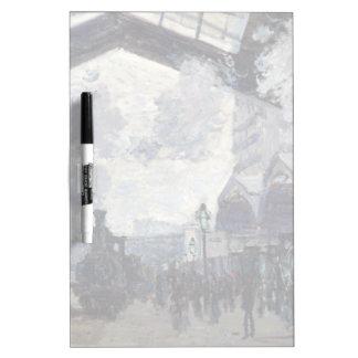 CLAUDE MONET - The Gare St-Lazare 1877 Dry Erase Board