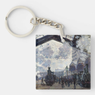 CLAUDE MONET - The Gare St-Lazare 1877 Key Ring