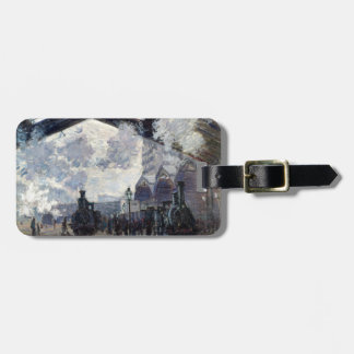 CLAUDE MONET - The Gare St-Lazare 1877 Luggage Tag