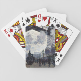 CLAUDE MONET - The Gare St-Lazare 1877 Playing Cards