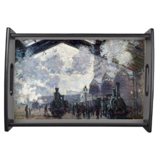 CLAUDE MONET - The Gare St-Lazare 1877 Serving Tray