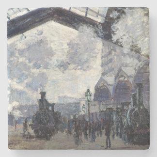 CLAUDE MONET - The Gare St-Lazare 1877 Stone Coaster