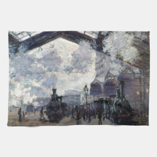 CLAUDE MONET - The Gare St-Lazare 1877 Tea Towel