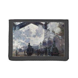 CLAUDE MONET - The Gare St-Lazare 1877 Tri-fold Wallet