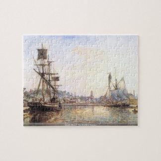 Claude Monet - The Honfleur Sea port Puzzle