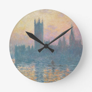 Claude Monet | The Houses of Parliament, Sunset Round Clock