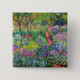 Claude Monet: The Iris Garden at Giverny 15 Cm Square Badge