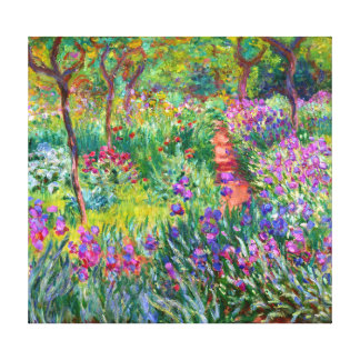 Claude Monet: The Iris Garden at Giverny Canvas Print