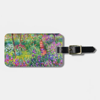 Claude Monet: The Iris Garden at Giverny Luggage Tag