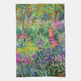 Claude Monet: The Iris Garden at Giverny Towel