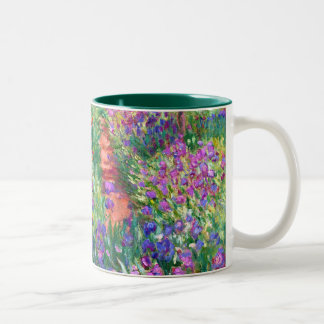 Claude Monet: The Iris Garden at Giverny Two-Tone Coffee Mug
