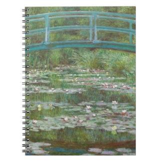 Claude Monet | The Japanese Footbridge, 1899 Spiral Note Books