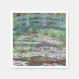 Claude Monet The Japanese Footbridge Disposable Serviettes
