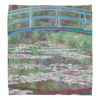 Claude Monet The Japanese Footbridge Head Kerchiefs
