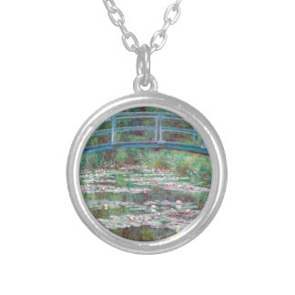 Claude Monet The Japanese Footbridge Silver Plated Necklace