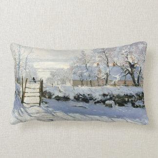 Claude Monet The Magpie Lumbar Cushion