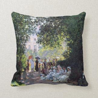 Claude Monet The Parc Monceau Cushion