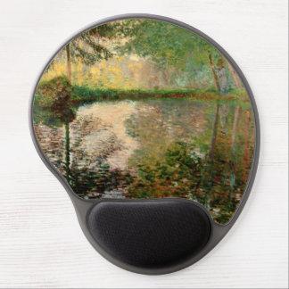 Claude Monet: The Pond at Montgeron Gel Mouse Pad