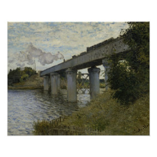 Claude Monet - The Railroad bridge in Argenteuil Poster