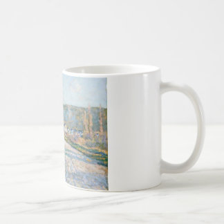 Claude Monet - The Road to Vétheuil Coffee Mug