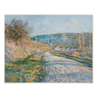 Claude Monet - The Road to Vétheuil Poster