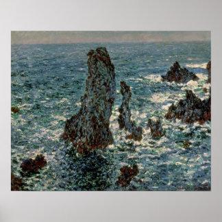 Claude Monet | The Rocks at Belle-Ile, 1886 Poster