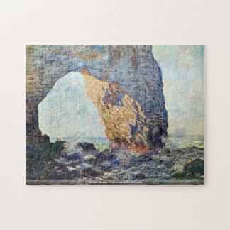 Claude Monet - The rocky cliffs of Etretat Puzzles