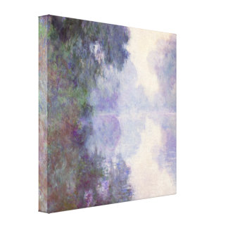 Claude Monet - The Seine at Giverny, morning mist Canvas Print