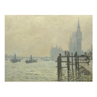 Claude Monet - The Thames at Westminster Postcard