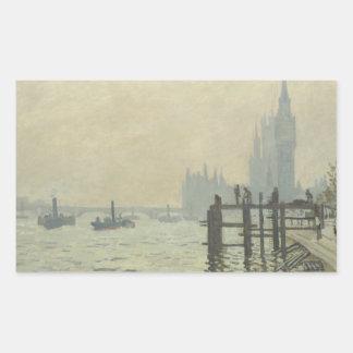 Claude Monet - The Thames at Westminster Rectangular Sticker