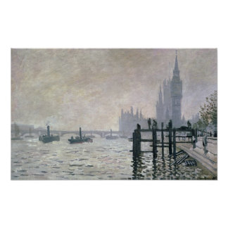 Claude Monet | The Thames below Westminster Poster