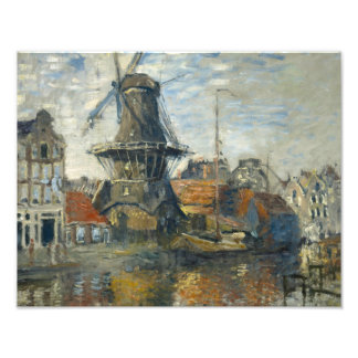 Claude Monet - The Windmill on the Onbekende Photo Print