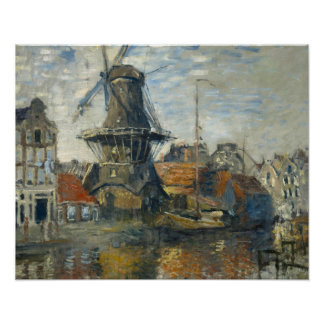 Claude Monet - The Windmill on the Onbekende Poster