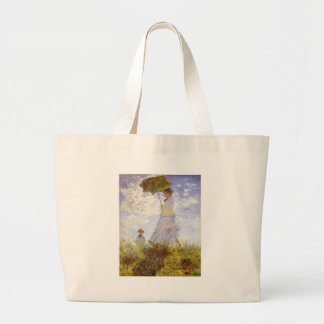Claude Monet - The Woman With The Parasol Jumbo Tote Bag