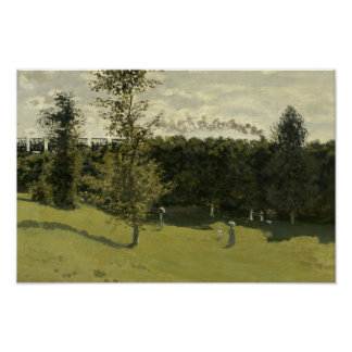 Claude Monet - Train in the Countryside Poster